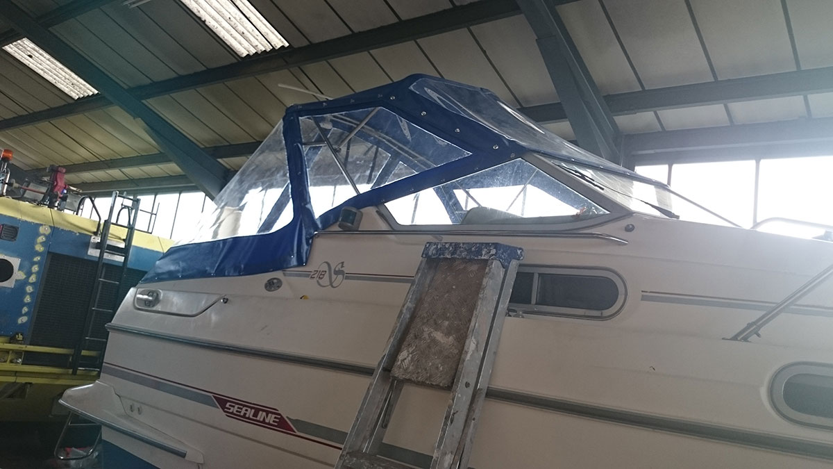 Sealine Blue Boat Canopy 1
