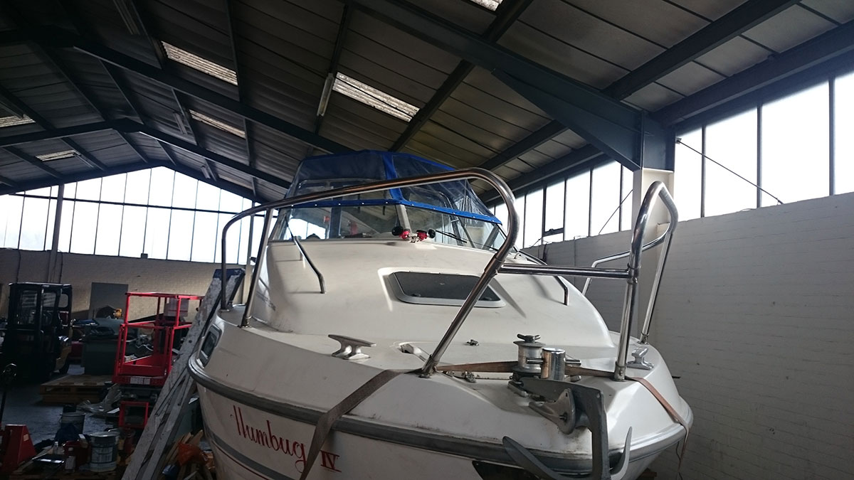 Sealine Blue Boat Canopy 3
