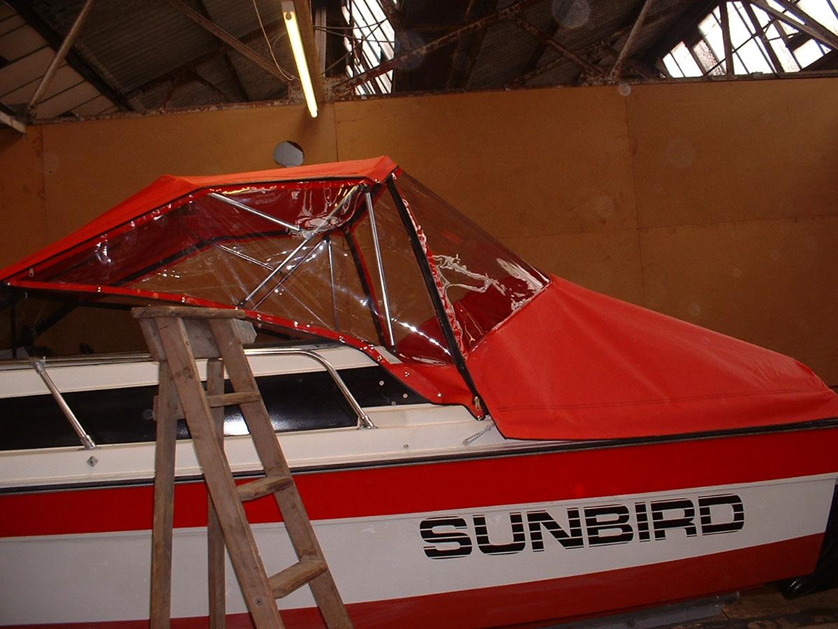 Sunbird Reed Boat Canopy 5